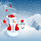 Cute snowman Stock Image
