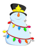 Cute Snowman - Christmas Vector Illustration Royalty Free Stock Images
