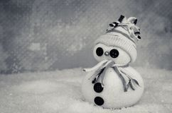 Cute snowman figure Royalty Free Stock Photography