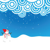 Cute snowman good for background Royalty Free Stock Image