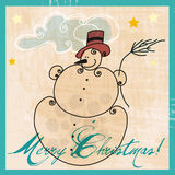Cute snowman illustration Stock Photo