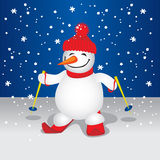 Cute Snowman (illustration) Stock Photos