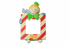 Cute snowman that keep blank sign Royalty Free Stock Images