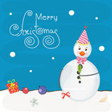 Cute snowman for Merry Christmas celebrations. Stock Photo
