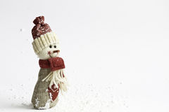 Cute snowman over white background Stock Photo