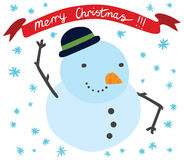 Cute Snowman Smiling Royalty Free Stock Photo
