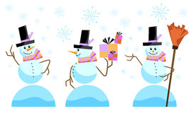 Cute snowman vector Stock Image