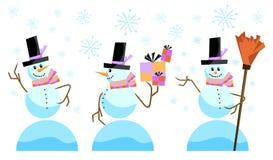 Cute snowman vector Stock Image