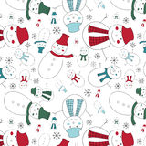 A cute snowmen seamless pattern Royalty Free Stock Image
