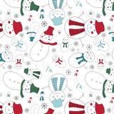 A cute snowmen seamless pattern Royalty Free Stock Image