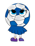 Cute soccer ball cartoon Stock Photos