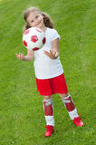Cute soccer player Stock Photos