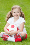 Cute soccer player Stock Images