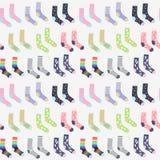 Cute socks seamless pattern stock illustration