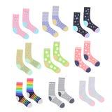 Cute socks set isolated royalty free illustration