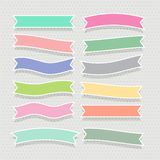 Cute soft colorful ribbons set. Vector stock illustration