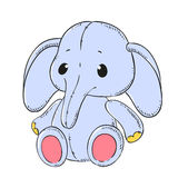 Cute soft toy Elephant. Vector Royalty Free Stock Photography