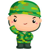 Cute Soldier on Duty Royalty Free Stock Images