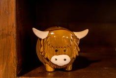 Cute souvenir of a scotish highland cow souvenir royalty free stock photo
