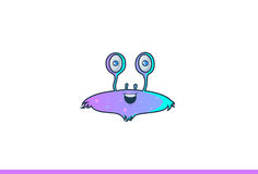 Cute Spaceship monster happy. Royalty Free Stock Photos