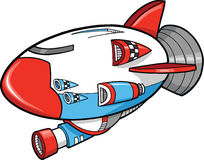 Cute SpaceShip vector Illustration Stock Photos