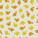 Cute sparrow seamless pattern. Cute yellow and brown sparrow seamless pattern. Vector illustration Vector Illustration