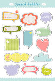 Cute speech bubble Royalty Free Stock Images