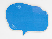 Cute speech bubble isolated on a white background, Royalty Free Stock Photos