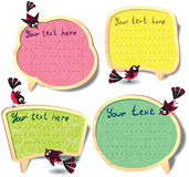 Cute speech bubbles set Stock Photos