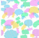Cute speech bubbles wallpaper. Vector cute speech bubbles wallpaper Royalty Free Stock Images