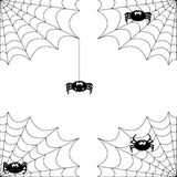 Cute spider. With net in 4 different varieties Stock Photos
