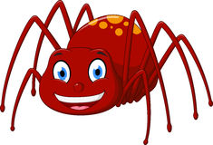 Cute spider cartoon Stock Image
