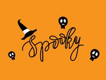 Spooky halloween card Stock Images