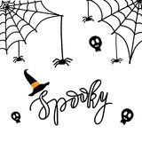 Spooky halloween card Royalty Free Stock Photography