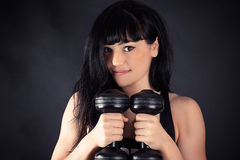Cute sports girl Stock Photography