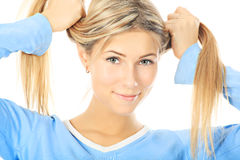 Cute sporty girl Stock Photography