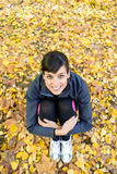 Cute sporty woman Stock Images