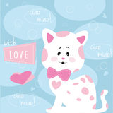 Cute spotted cat – illustration vector Royalty Free Stock Photo