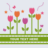 Cute spring background Royalty Free Stock Photo