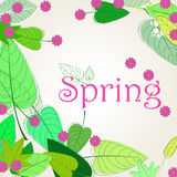 Cute spring background illustration Stock Photo
