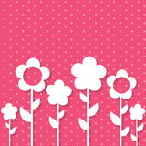 Cute Spring Background with Paper Flowers Royalty Free Stock Image