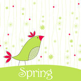 Cute spring bird illustration Stock Photo