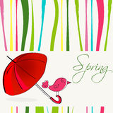 Cute spring bird illustration Stock Image
