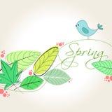 Cute spring bird illustration Royalty Free Stock Photos