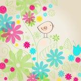 Cute spring bird illustration Royalty Free Stock Image