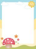 Cute spring border / frame Royalty Free Stock Image