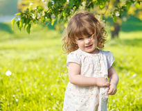 Cute spring child stock image