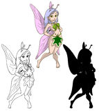 Cute spring fairy Royalty Free Stock Photos