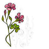 Cute spring floral background Stock Photos