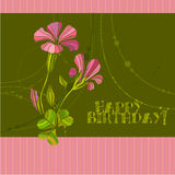 Cute spring floral background Royalty Free Stock Photos